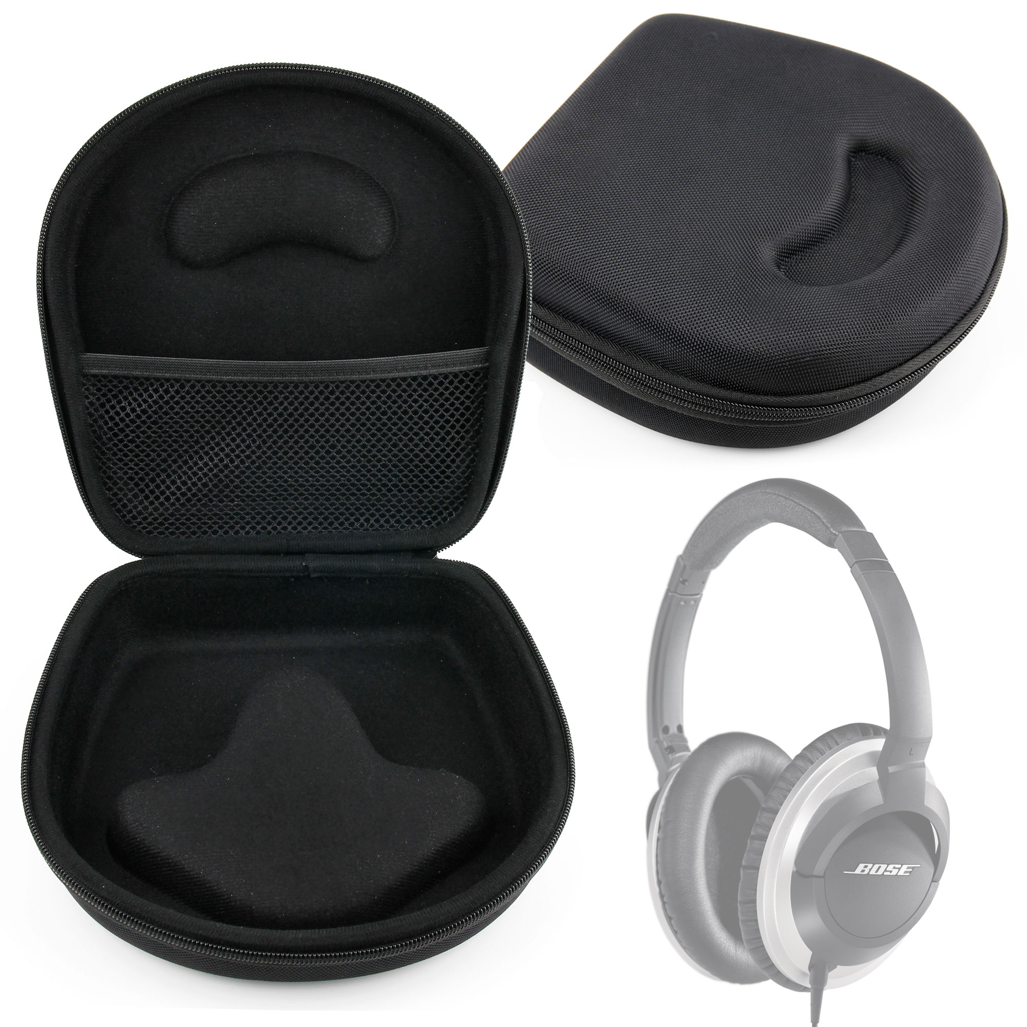etui de protection pour casque audio sony beats jbl coque noire moul e ebay. Black Bedroom Furniture Sets. Home Design Ideas