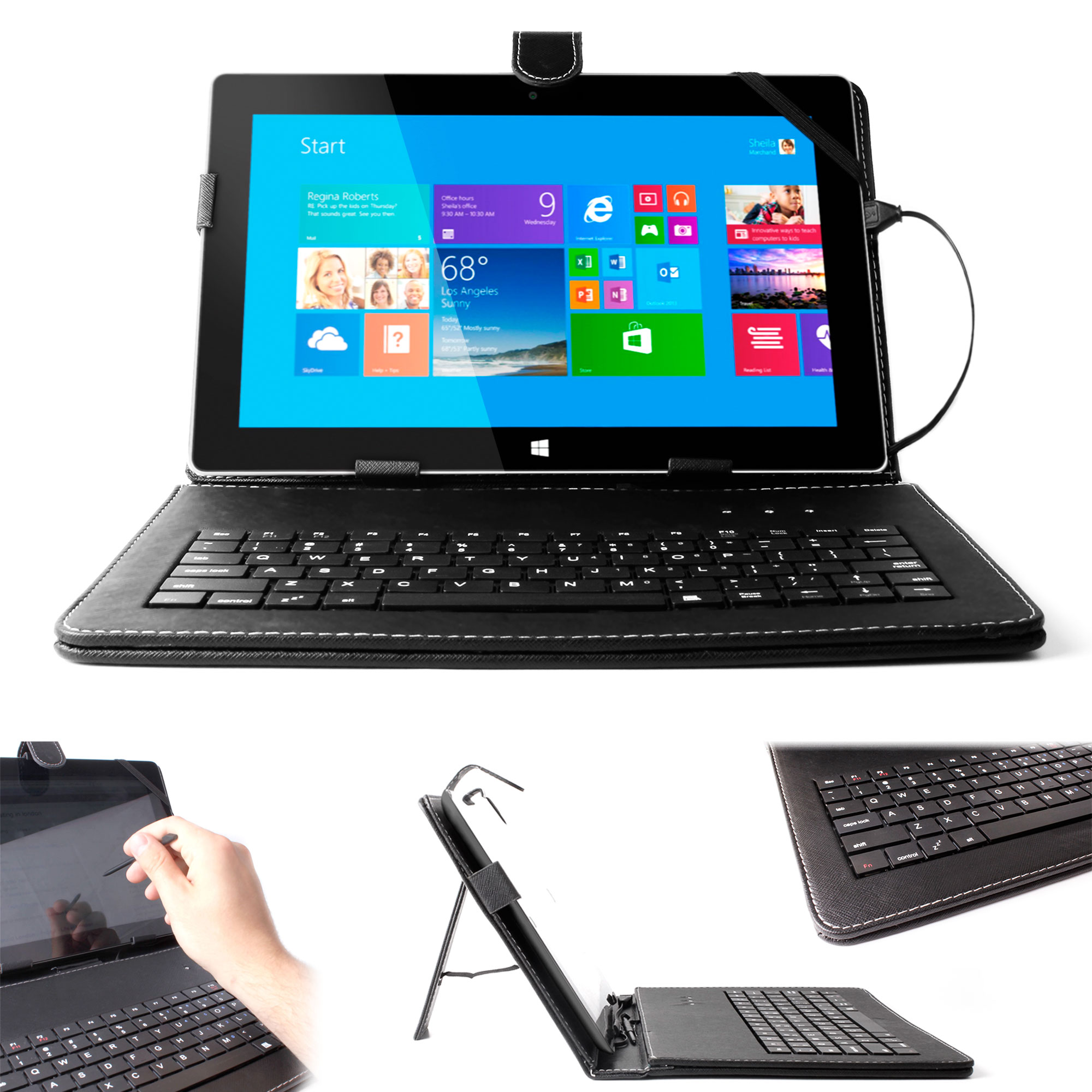 Premium Quality QWERTY Keyboard Case for Microsoft Surface RT & RT 2 in Black | eBay