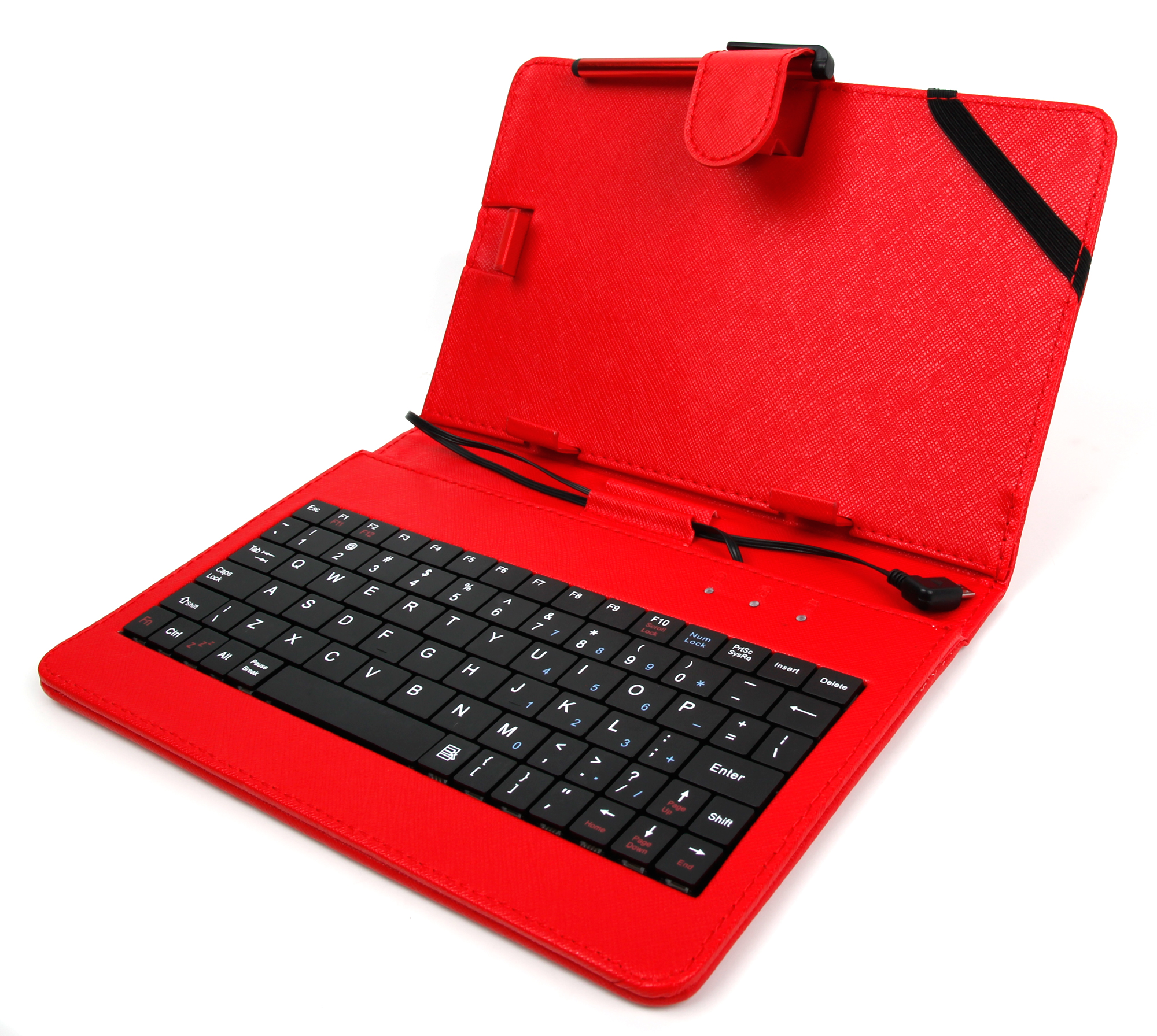 etui clavier qwerty rouge support pour tablette 7 pouces samsung archos acer ebay. Black Bedroom Furniture Sets. Home Design Ideas