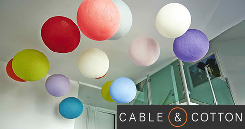 cable and cotton big lamps in a range of colours